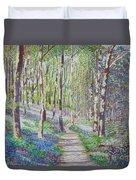Bluebell Walk At Llanilar Aberystwyth Duvet Cover