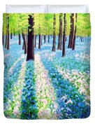 Bluebells In The Woodlands Duvet Cover