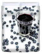 Blueberries And Blueberry Juice Duvet Cover