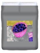 Blueberries In A Bowl Duvet Cover