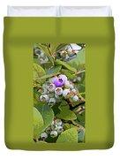 Blueberries On The Vine 7 Duvet Cover