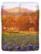 Blueberry Fields Season Of Blueberries Duvet Cover