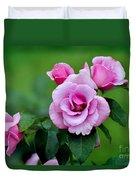 Blueberry Hill Roses Duvet Cover
