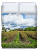 Blueberry Rows Duvet Cover