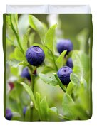 Blueberry Shrubs Duvet Cover