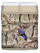 Bluebird On Canary Island Palm II Duvet Cover