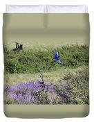 Bluebird Pair In Blickleton Duvet Cover