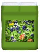 Bluebonnet Bouquet Duvet Cover