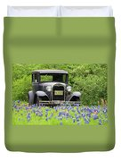Bluebonnets And Fords Duvet Cover