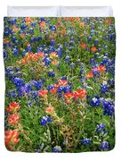 Bluebonnets And Paintbrushes 3 - Texas Duvet Cover