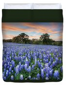 Bluebonnets On A Spring Evening 403-1 Duvet Cover