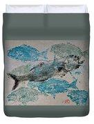 Bluefish Delight - Lunchtime  Duvet Cover