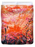 Bluegrass Sunrise - Crimson A-left Duvet Cover