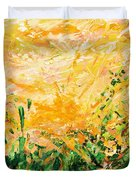 Bluegrass Sunrise - Lemon A-left Duvet Cover
