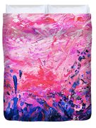 Bluegrass Sunrise - Violet A-left Duvet Cover