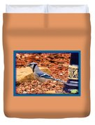 Bluejay Profile Duvet Cover