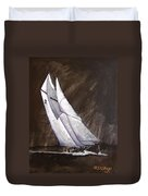 Bluenose At Night Coming Duvet Cover