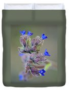 Blues A Bloomin' Duvet Cover