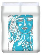 Blues Girl Duvet Cover