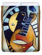 Blues Guitar Duvet Cover