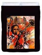Blues On Bourbon Street Duvet Cover