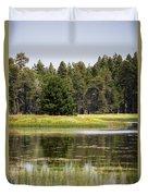 Bluff Lake Ca 12 Duvet Cover