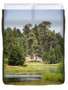 Bluff Lake Ca 13 Duvet Cover