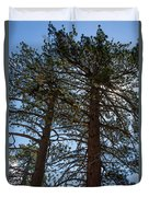 Bluff Lake Ca Through The Trees 3 Duvet Cover