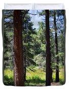 Bluff Lake Ca Through The Trees 7 Duvet Cover