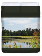 Bluff Lake Ca Wild Flowers 11 Duvet Cover