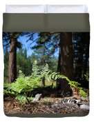 Bluff Lake Forest Foliage1 Duvet Cover