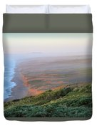 Bluffs And South Beach Point Reyes Duvet Cover