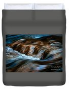 Blurred Cascades On The Autumn River Duvet Cover