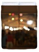 Blurred Delhi Street Scene At Night Duvet Cover