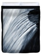 Blurred Detail For Falling Water Duvet Cover
