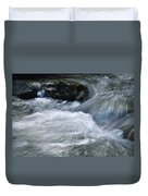 Blurred Detail Of A Mountain Stream Duvet Cover