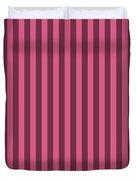 Blush Pink Striped Pattern Design Duvet Cover