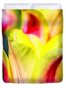 Blushing Lady Tulips Duvet Cover