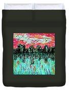 Blushing Metropolis Duvet Cover
