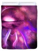 Blushing Nebula Duvet Cover