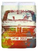 Bmw 2002 Front Watercolor 2 Duvet Cover