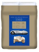 Bmw Mille Miglia Poster Duvet Cover