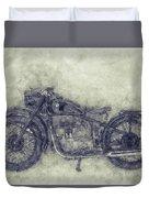 Bmw R32 - 1919 - Motorcycle Poster 1 - Automotive Art Duvet Cover