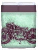 Bmw R32 - 1919 - Motorcycle Poster 3 - Automotive Art Duvet Cover