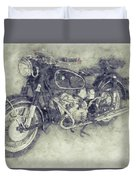 Bmw R60/2 - 1956 - Bmw Motorcycles 1 - Vintage Motorcycle Poster - Automotive Art Duvet Cover
