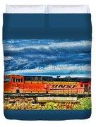 Bnsf Train Hdr Duvet Cover