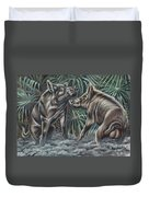 Boar Room Brawl Duvet Cover