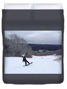 Board On Snow Duvet Cover