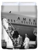 Boarding American Airlines Duvet Cover