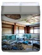 Boarding School Nightmare - Abandoned Building Duvet Cover